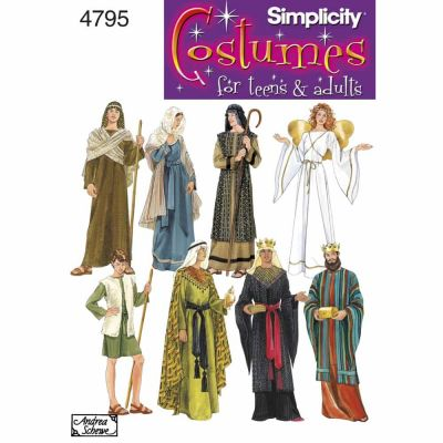 Simplicity Sewing Pattern 4795 Misses, Men & Teen Costumes