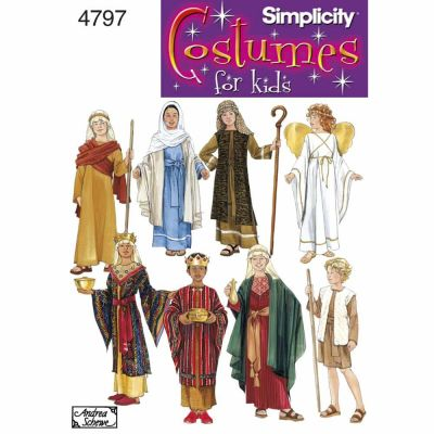 Simplicity Sewing Pattern 4797 Boy & Girl Costumes