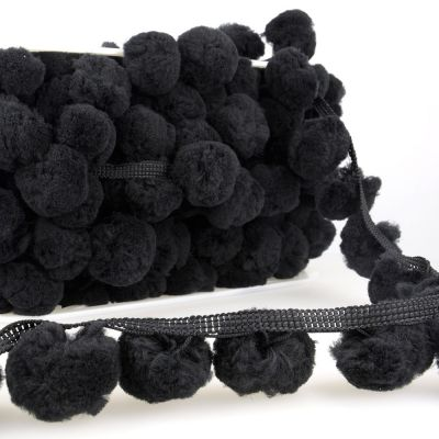 La Stephanoise 50mm Giant Pom Pom Trim Black