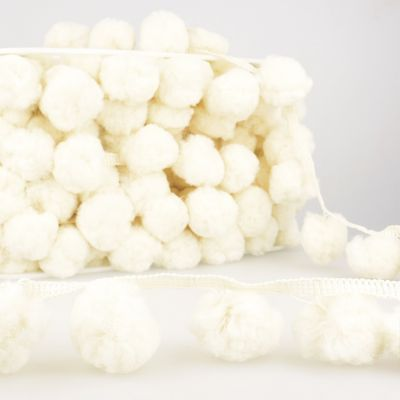 La Stephanoise 50mm Giant Pom Pom Trim Ivory