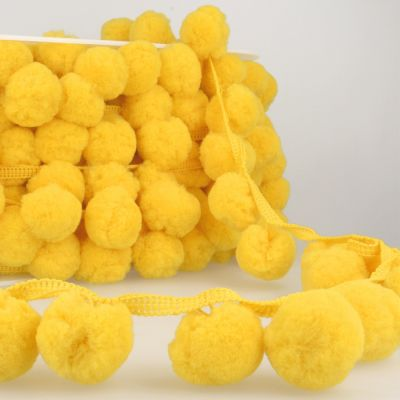 La Stephanoise 50mm Giant Pom Pom Trim Lemon Yellow