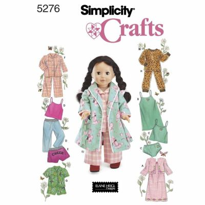 Simplicity Sewing Pattern 5276 Doll Clothes