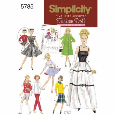 Simplicity Sewing Pattern 5785 Doll Clothes
