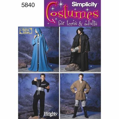 Simplicity Sewing Pattern 5840 Misses, Men & Teen Costumes