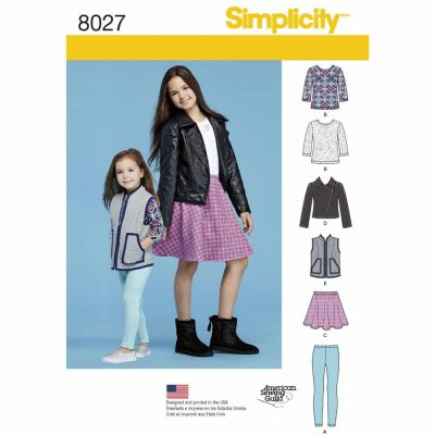 Simplicity Sewing Pattern 8027 Child's and Girls' Sportswear Pattern