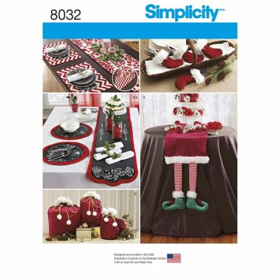 Simplicity Sewing Pattern 8032 Entertaining Accessories