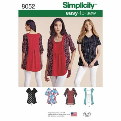 Simplicity Sewing Pattern 8052 Misses' Easy-to-Sew Tops