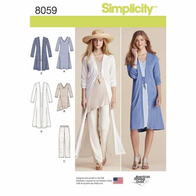 Simplicity Sewing Pattern 8059 Misses Separates Sized XXS to XXL