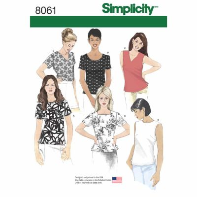 Simplicity Sewing Pattern 8061 Misses' Tops