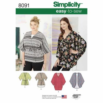 Simplicity Sewing Pattern 8091 Misses Kimonos in Various Styles