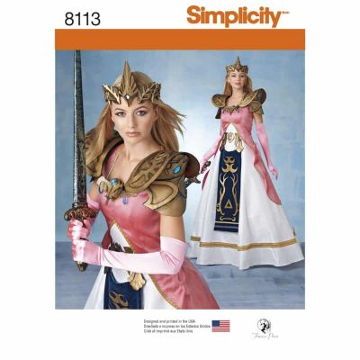 Simplicity Sewing Pattern 8113 Misses' Costume with Craft Foam Armor, Belt & Crown