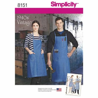 Simplicity Sewing Pattern 8151 Simplicity Pattern 8151 Vintage Aprons for Boys, Girls, Misses and Men