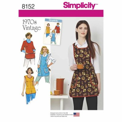 Simplicity Sewing Pattern 8152 Simplicity Pattern 8152 Misses' Vintage 1970's Aprons