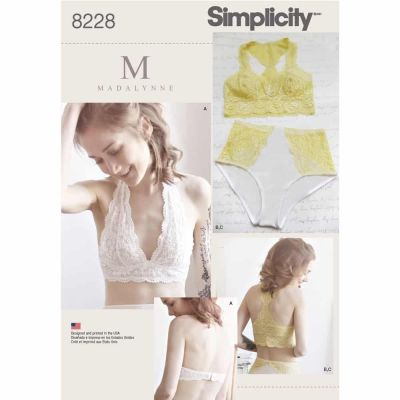Simplicity Sewing Pattern 8228 Simplicity Pattern 8228 Misses' Soft Cup Bras and Panties