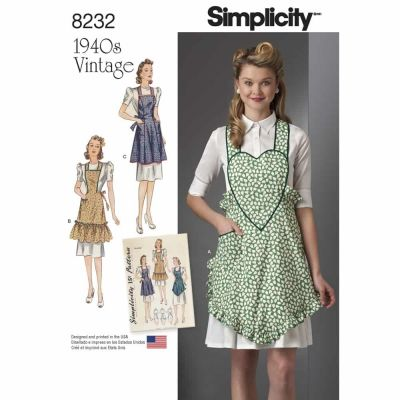 Simplicity Sewing Pattern 8232 Simplicity Pattern 8232 1940's Vintage Aprons