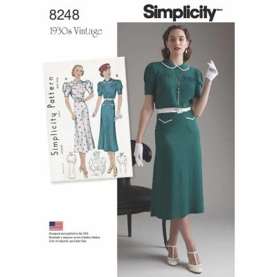 Simplicity Sewing Pattern 8248 Simplicity Pattern 8248 Misses' Vintage 1930's Dresses