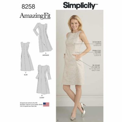 Simplicity Sewing Pattern 8258 Simplicity Pattern 8258 Misses' and Plus Size Amazing Fit Dress