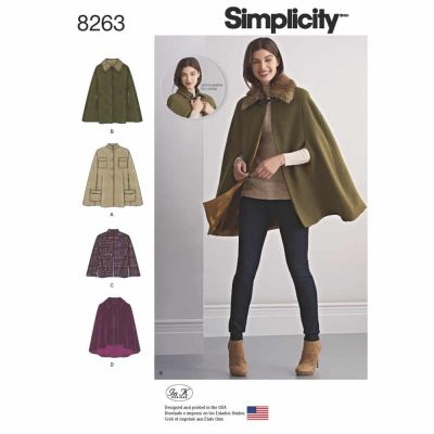 Simplicity Sewing Pattern 8263 Simplicity Pattern 8263 Misses' Capes and Capelets