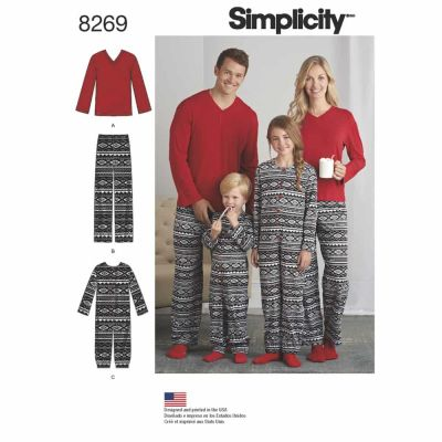Simplicity Sewing Pattern 8269 Simplicity Pattern 8269 Child's Girls' and Boys' Jumpsuit and Teens' and Adults' Pants and Knit Top