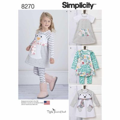 Simplicity Sewing Pattern 8270 Simplicity Pattern 8270 Toddlers' Knit Sportswear from Ruby Jean's Closet