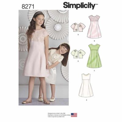 Simplicity Sewing Pattern 8271 Simplicity Pattern 8271 Child's and Girls' Dress and Jacket