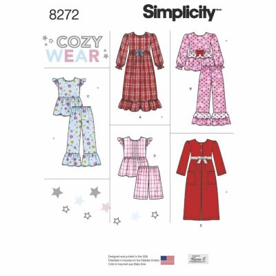 Simplicity Sewing Pattern 8272 Simplicity Pattern 8272 Child's and Girl's Sleepwear and Robe