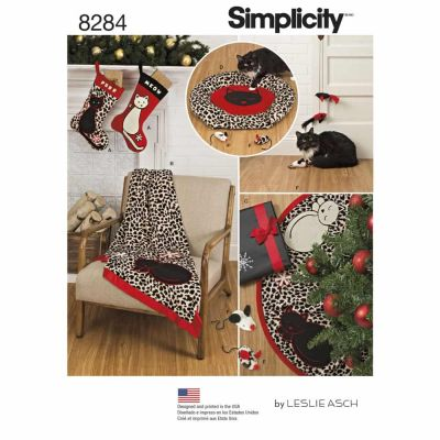 Simplicity Sewing Pattern 8284 Simplicity Pattern 8284 Holiday Stocking, Tree Skirt, Throw, Cat Bed and Cat Toys