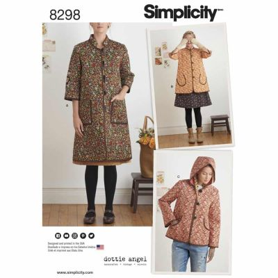 Simplicity Sewing Pattern 8298 Simplicity Pattern 8298 Misses' Coat and Jacket