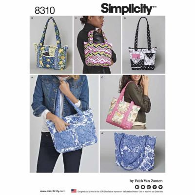 Simplicity Sewing Pattern 8310 Simplicity Pattern 8310 Quilted Bags in Three Sizes