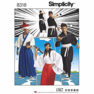 Simplicity Sewing Pattern 8318 Simplicity Pattern 8318 Misses', Men's and Teen's Costumes