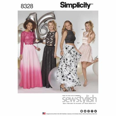 Simplicity Sewing Pattern 8328 Simplicity Pattern 8328 Misses Special Occasions Dress