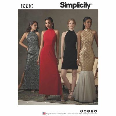 Simplicity Sewing Pattern 8330 Simplicity Pattern 8330 Misses' Dress with Skirt and Back Variations
