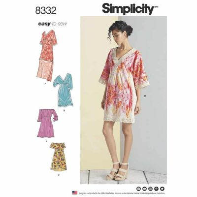 Simplicity Sewing Pattern 8332 Simplicity Pattern 8332 Misses' Dresses