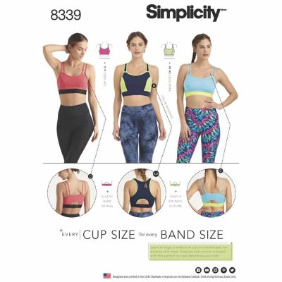 Simplicity Sewing Pattern 8339 Simplicity Pattern 8339 Misses' Knit Sports Bras