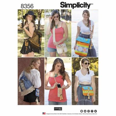 Simplicity Sewing Pattern 8356 Simplicity Pattern 8356 Festival Bags in Four Sizes