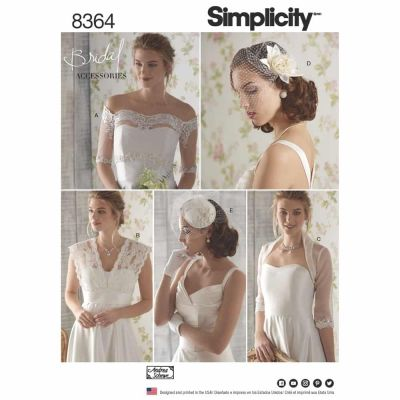 Simplicity Sewing Pattern 8364 Simplicity Pattern 8364 Misses' Cover-ups, Fascinator, and Hat