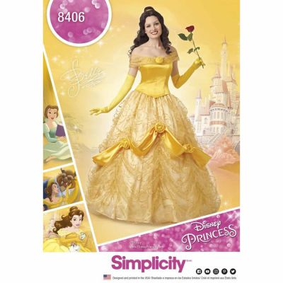 Simplicity Sewing Pattern 8406 Simplicity Pattern 8406  Disney Beauty and the Beast Costume for Women