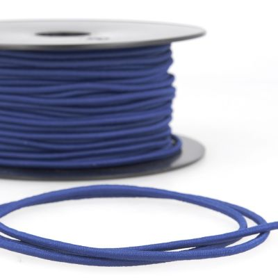 Round Rayon Elastic Cord - 3mm Wide - Royal Blue