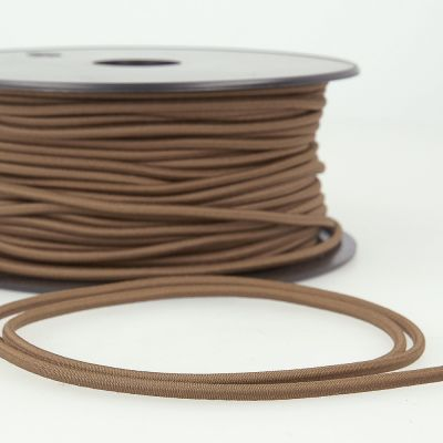 Round Rayon Elastic Cord - 3mm Wide - Chocolate Brown