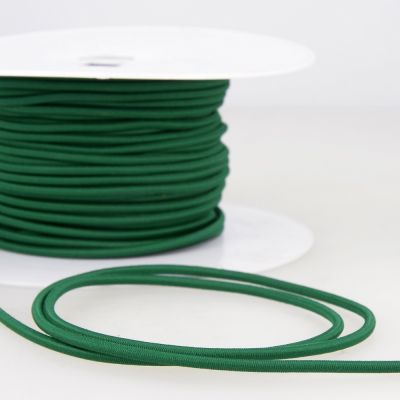 Round Rayon Elastic Cord - 3mm Wide - Bottle Green