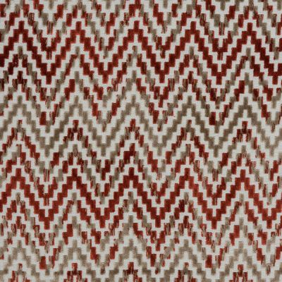Porter & Stone - San Remo - Burnt Orange - Curtain Fabric