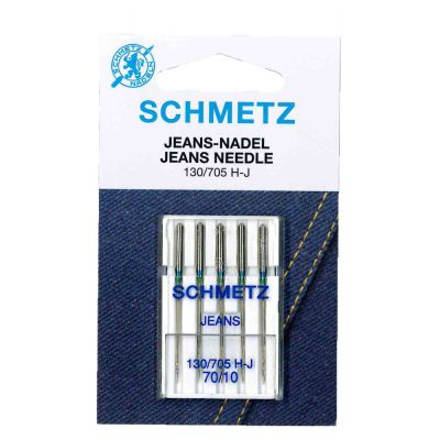 Schmetz Jeans Machine Needles Size 70/10 5 Piece Card