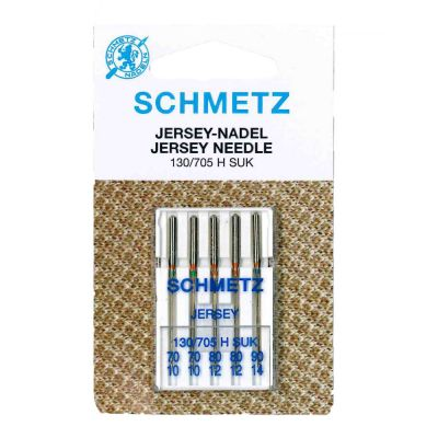 Schmetz Ball Point Jersey Machine Needles Assorted 70-90 5 Piece Card