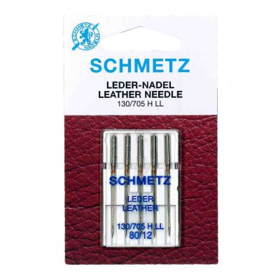 Schmetz Leather Machine Needles Size 80/12 5 Piece Card