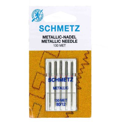 Schmetz Metallic Machine Needles Size 80/12 5 Piece Card