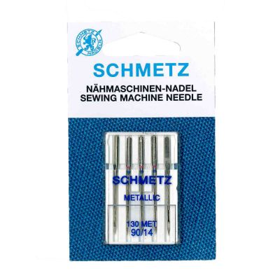Schmetz Metallic Machine Needles Size 90/14 5 Piece Card