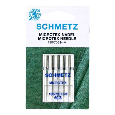 Schmetz Microtex Machine Needles Size 60/8 5 Piece Card
