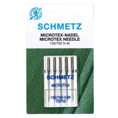 Schmetz Microtex Machine Needles Size 70/10 5 Piece Card