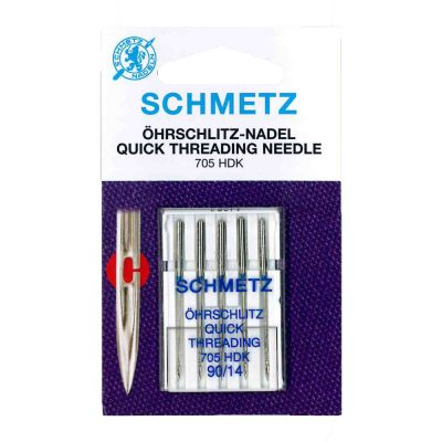 Schmetz Quick Threading Machine Needles Size 90/14 5 Piece Card
