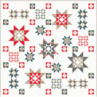 Makower Scandi Christmas 2020 Quilt, Runner and Cushion - Free Download